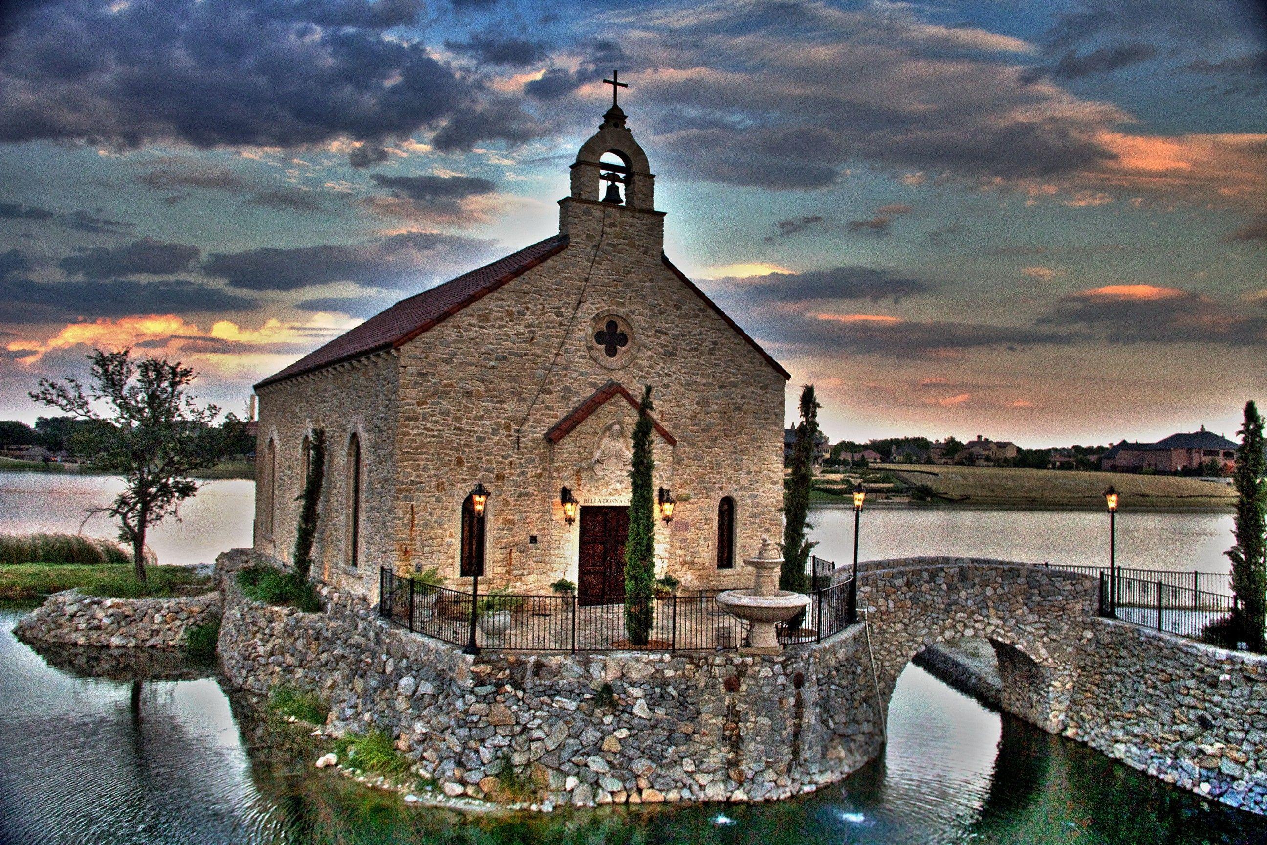 Bella Donna Chapel Exterior Elopement McKinney TX